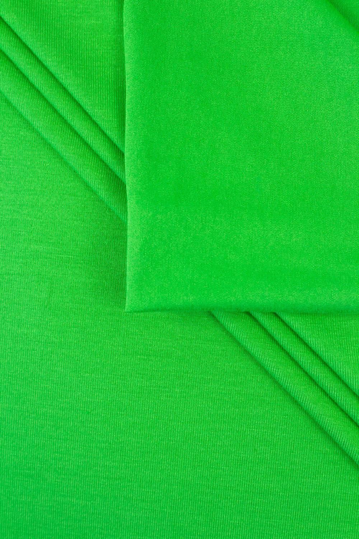 Dzianina jersey wiskozowy - zielone jabłuszko - 155cm 210g/m2
