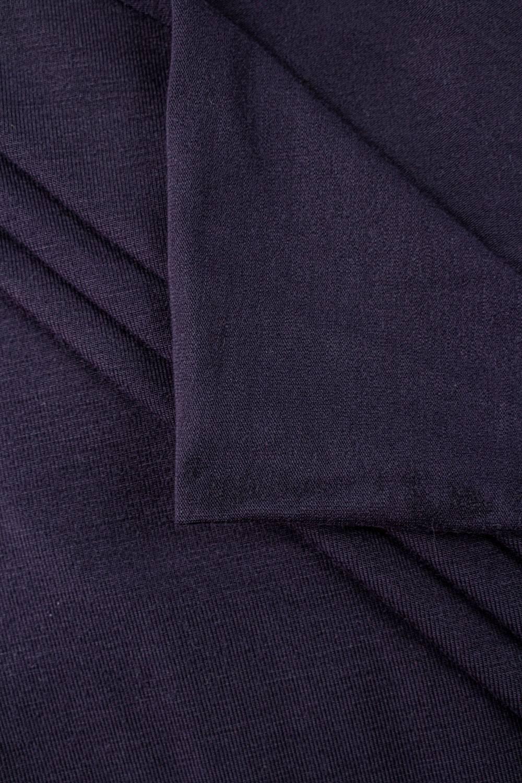 Dzianina jersey wiskozowy - ciemny fiolet - 160cm 220g/m2