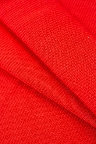Ściągacz prążkowany - czerwony - 50cm/100cm 340g/m2 thumbnail