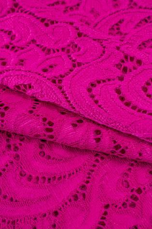 Tkanina koronka ornament - różowa - 145cm 210g/m2 thumbnail