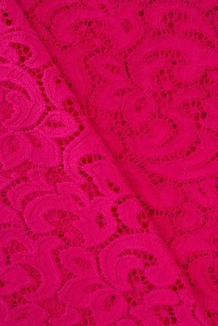 Tkanina koronka ornament - fuksja - 145cm 210g/m2 thumbnail