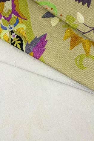 Tkanina drelich z nadrukeim paisley - 145cm 280g/m2 thumbnail