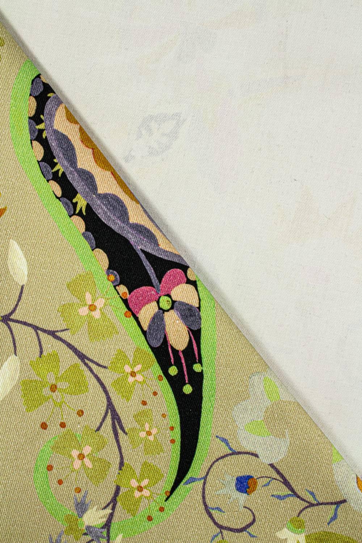 Tkanina drelich z nadrukeim paisley - 145cm 280g/m2