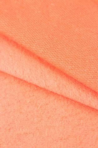 Dzianina dresowa drapana - koralowy - 100cm/200cm 250g/m2 thumbnail