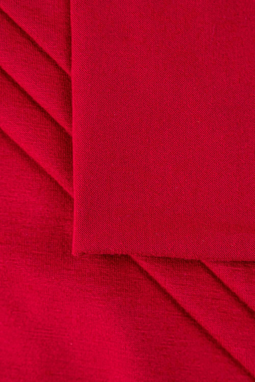 Dzianina jersey wiskozowy lux o dotyku modalnym - krwista czerwień - 160cm 180g/m2