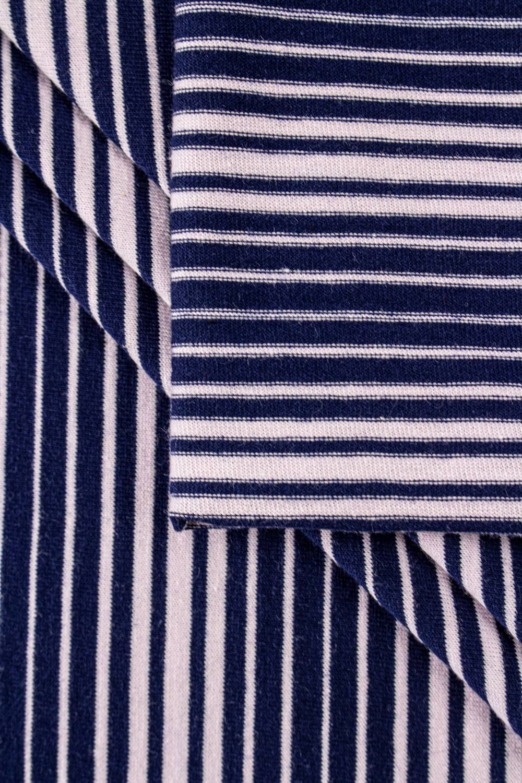 Dzianina jersey bawełniany w paski - 175cm 190g/m2