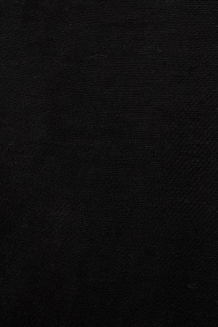 Tkanina lniana czarna ze splotem diagonalnym - 150cm 180g/m2 thumbnail