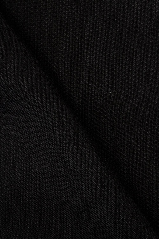 Tkanina lniana czarna ze splotem diagonalnym - 150cm 180g/m2
