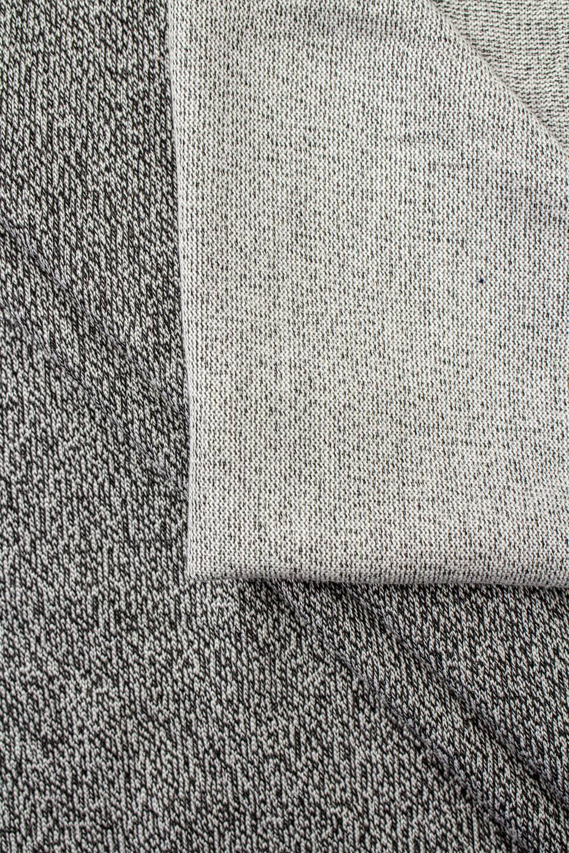 Dzianina jersey szary melanż z jasnym spodem - 160cm 220g/m2