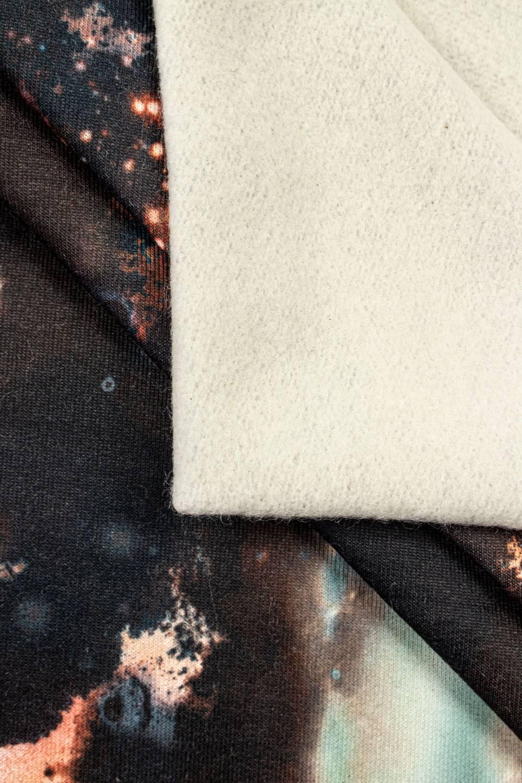 Dzianina dresowa drapana - galaxy - 160cm 290g/m2