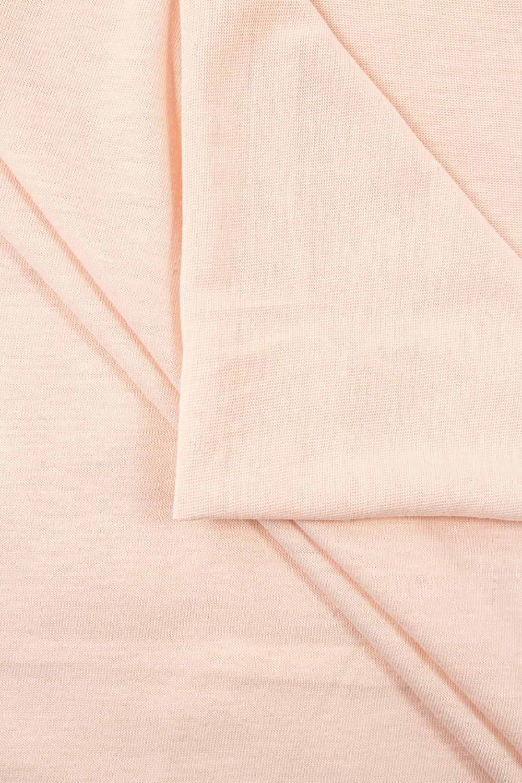 Dzianina jersey wiskozowy - brzoskwiniowy - 160cm 140g/m2
