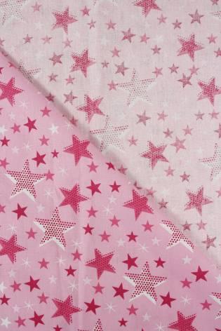 Tkanina bawełniana pościelowa gwiazdki - 215 cm 110 g/m2 thumbnail