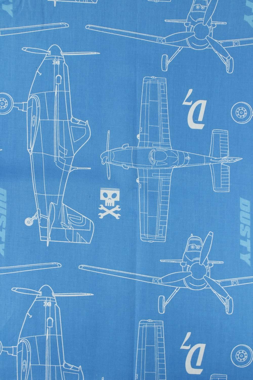 Tkanina bawełniana pościelowa w samoloty - 215 cm 110 g/m2