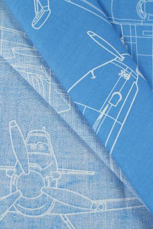 Tkanina bawełniana pościelowa w samoloty - 215 cm 110 g/m2 thumbnail