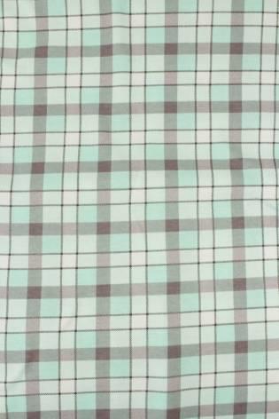 Dzianina jersey bawełna w kratkę miętowy - 160 cm 150 g/m2 thumbnail