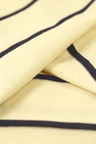Dzianina jersey surówka naturalna w granatowe paski 100 cm/200 cm 200 g/m2 thumbnail