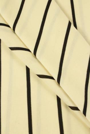 Dzianina jersey surówka naturalna w czarne paski 100 cm/200 cm 200 g/m2 thumbnail