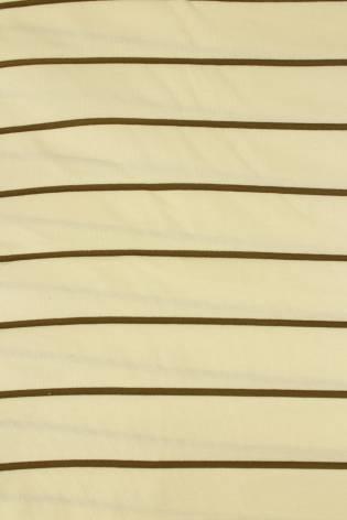 Dzianina jersey surówka naturalna w brązowe paski 100 cm/200 cm 200 g/m2 thumbnail