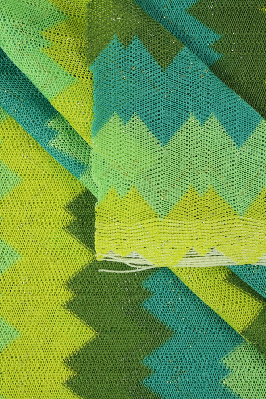 Dzianina sweterek zielona letnia 140 cm 130 g/m2