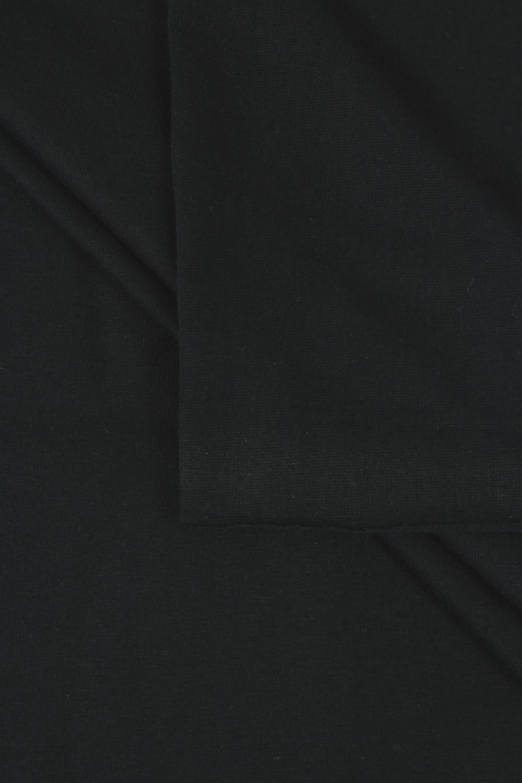 Dzianina jersey bawełniany czarny 190 cm 210 g/m2