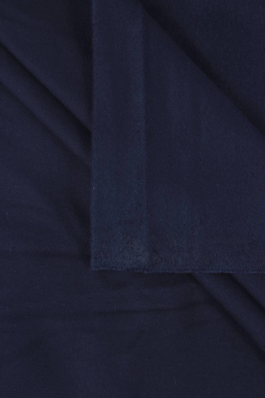 Dzianina dresowa wiskozowa drapana granatowa 155 cm 290 g/m2