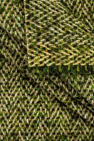 Tkanina wełniana płaszczowa - zielona - 140cm 490g/m2 thumbnail
