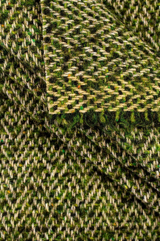 Tkanina wełniana płaszczowa - zielona - 140cm 490g/m2