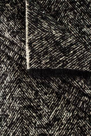 Knit - Petersham - Black & Ecru - 150 cm - 360 g/m2 thumbnail