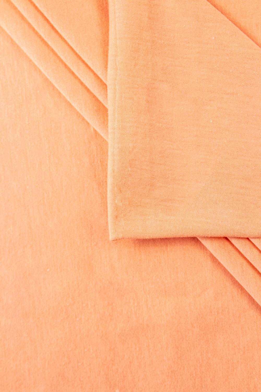 Dzianina jersey wiskozowy - brzoskwiniowy - 180cm 190g/m2