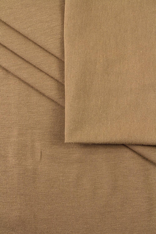 Dzianina jersey bawełniany karmel - 175cm 180g/m2