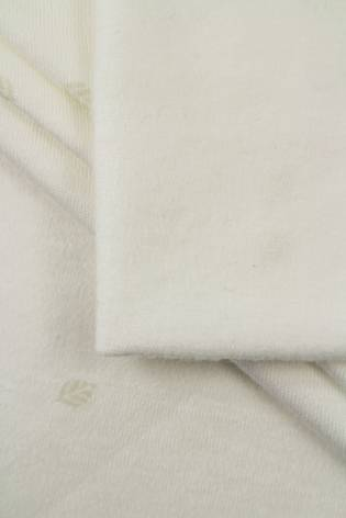 Dzianina interlock szmerglowany w delikatne listki - 145cm 250g/m2 thumbnail
