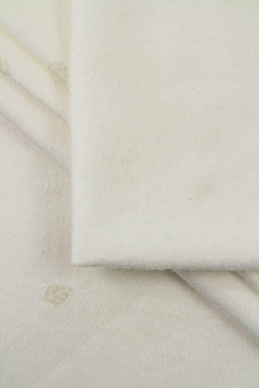 Dzianina interlock szmerglowany w delikatne listki - 145cm 250g/m2