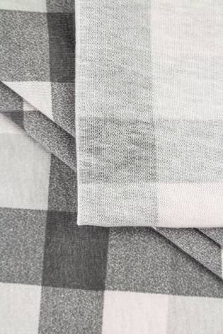 Dzianina jersey bawełniany w kratę - szary - 165cm 150g/m2 thumbnail
