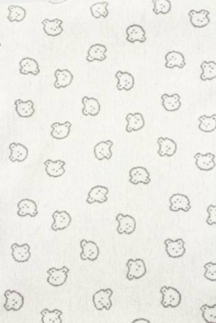 Knit - Sweatshirt Jacquard - Grey Teddy Bears - 135 cm - 250 g/m2 thumbnail
