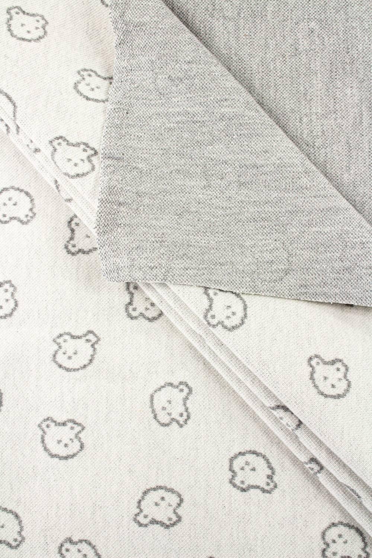 Knit - Sweatshirt Jacquard - Grey Teddy Bears - 135 cm - 250 g/m2