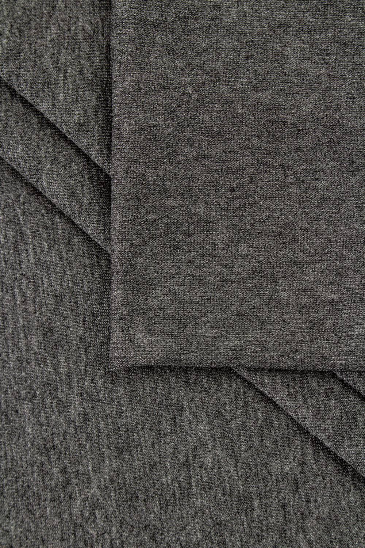 Dzianina jersey wiskozowy - ciemnoszary melanż - 180cm 200g/m2