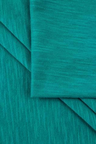 Dzianina jersey bawełniany melanż płomyk - turkus - 160cm 140g/m2 thumbnail