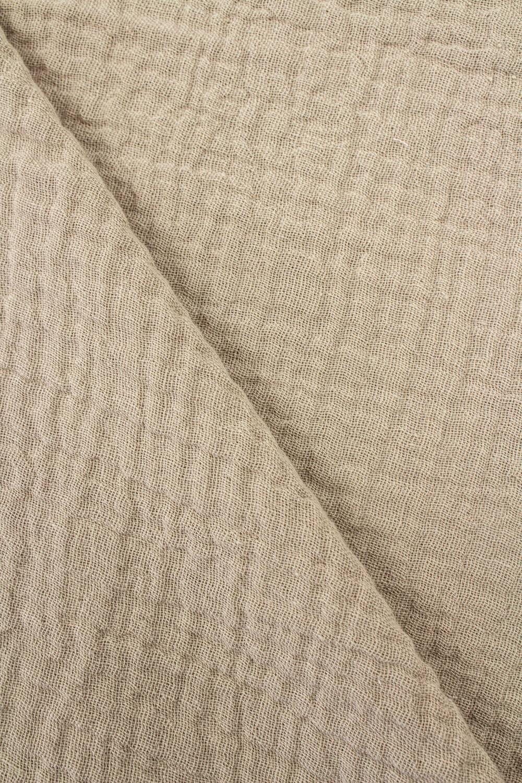 Tkanina muślin dwustronny - bawełniany - beżowy - 145cm 230g/m2
