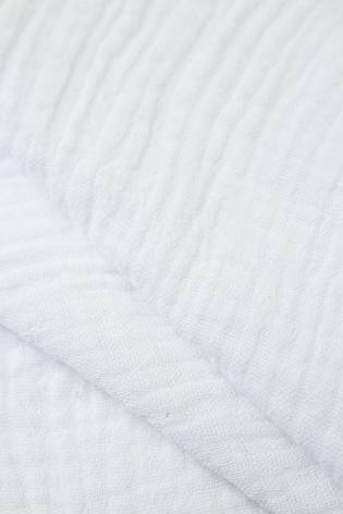 Tkanina muślin dwustronny - bawełniany - biały - 145cm 230g/m2 thumbnail