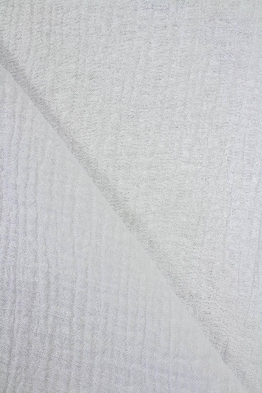 Tkanina muślin dwustronny - bawełniany - biały - 145cm 230g/m2