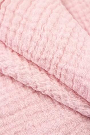 Tkanina muślin dwustronny - bawełniany - różowy - 145cm 230g/m2 thumbnail
