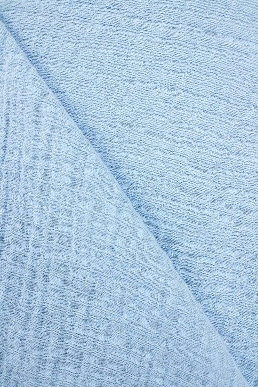 Tkanina muślin dwustronny - bawełniany - błękitny - 145cm 230g/m2