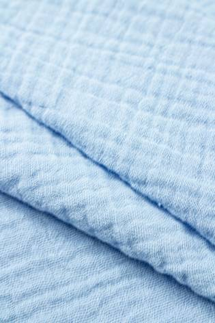 Tkanina muślin dwustronny - bawełniany - błękitny - 145cm 230g/m2 thumbnail