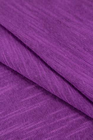 Dzianina jersey bawełniany melanż płomyk - fioletowy - 160cm 140g/m2 thumbnail
