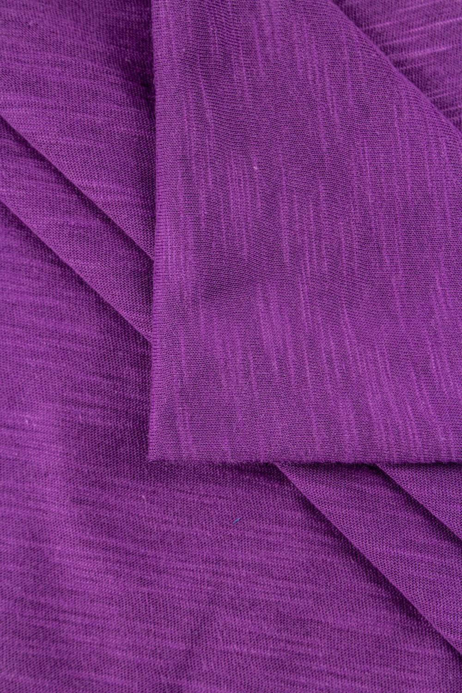 Dzianina jersey bawełniany melanż płomyk - fioletowy - 160cm 140g/m2