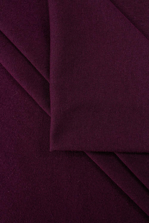 Dzianina jersey bawełniany - purpurowy - 155cm 200g/m2