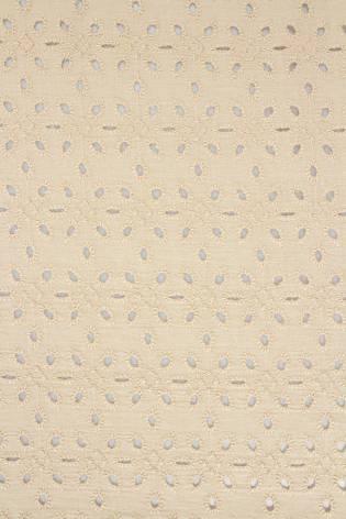 Tkanina bawełniana haftowana - beżowa - 135cm 120g/m2 thumbnail