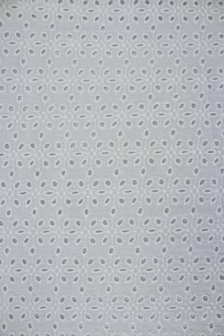 Tkanina bawełniana haftowana - biała - 135cm 120g/m2 thumbnail