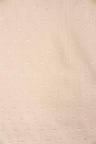 Tkanina bawełniana haftowana z wypustkami - beżowy - 135cm 120g/m2 thumbnail