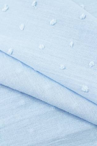 Tkanina bawełniana haftowana z wypustkami - błękitny - 135cm 120g/m2 thumbnail